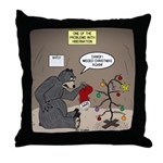 Bearly Christmas Throw Pillow