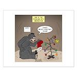 Bearly Christmas Small Poster