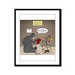 Bearly Christmas Framed Panel Print