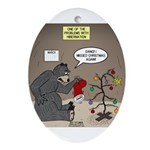 Bearly Christmas Ornament (oval)