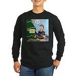 supervillain christmas Long Sleeve Dark T-Shirt