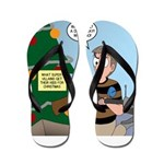 supervillain christmas Flip Flops