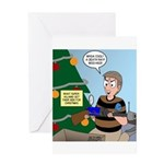 supervillain christmas Greeting Card
