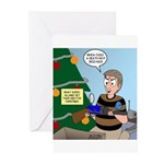 supervillain christmas Greeting Cards (Pk of 20)