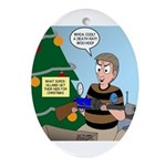supervillain christmas Ornament (Oval)
