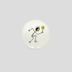 Tribal Tennis Player Mini Button