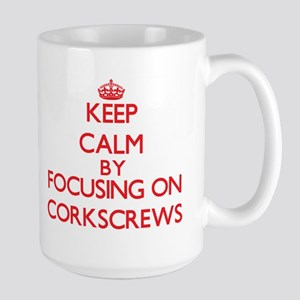 Keep Calm by focusing on Corkscrews Mugs