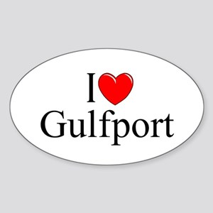 """I Love Gulfport"" Oval Sticker"