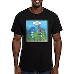 shark chum Men's Fitted T-Shirt (dark)