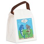 shark chum Canvas Lunch Bag