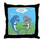 shark chum Throw Pillow
