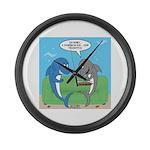 shark chum Large Wall Clock