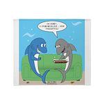 shark chum Throw Blanket