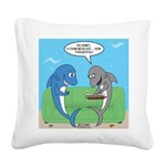 shark chum Square Canvas Pillow