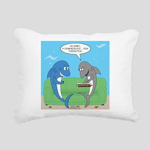 shark chum Rectangular Canvas Pillow