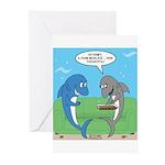 shark chum Greeting Cards (Pk of 10)