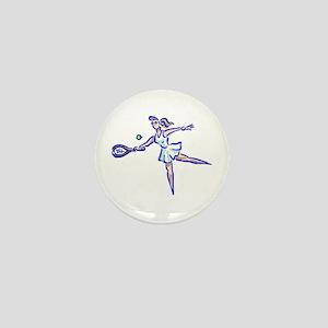 Tennis Player Mini Button