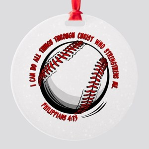 SOFTBALL Round Ornament