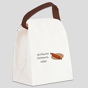 Christmas Lefse Canvas Lunch Bag