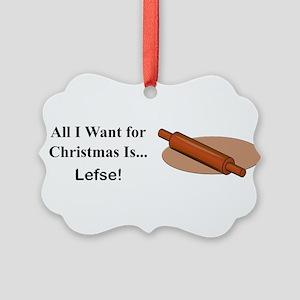 Christmas Lefse Picture Ornament