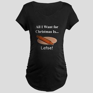 Christmas Lefse Maternity Dark T-Shirt