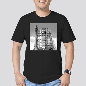 Saturn V Men's Fitted T-Shirt (dark)