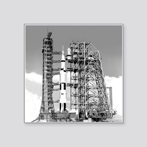 "Saturn V Square Sticker 3"" x 3"""