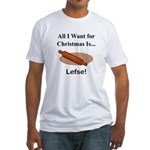 Christmas Lefse Fitted T-Shirt