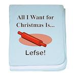 Christmas Lefse baby blanket