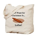 Christmas Lefse Tote Bag