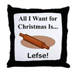 Christmas Lefse Throw Pillow