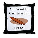 Christmas Lefse Throw Pillow