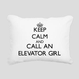 Keep calm and call an El Rectangular Canvas Pillow