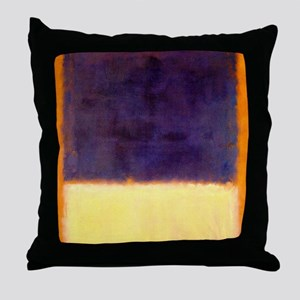 rothko-orange box with purple & yellow Throw Pillo