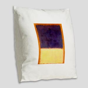 rothko-orange box with purple & yellow Burlap Thro