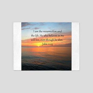 JOHN 11:25 5'x7'Area Rug