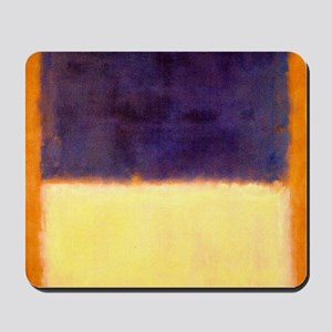 rothko-orange box with purple & yellow Mousepad