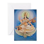 Saraswati Greeting Cards (Pk of 10)