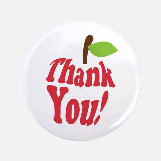"Thank You Red Apple Appreciation 3.5"" Button"