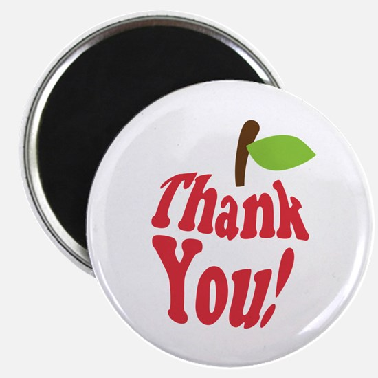 Thank You Red Apple Appreciation Magnets