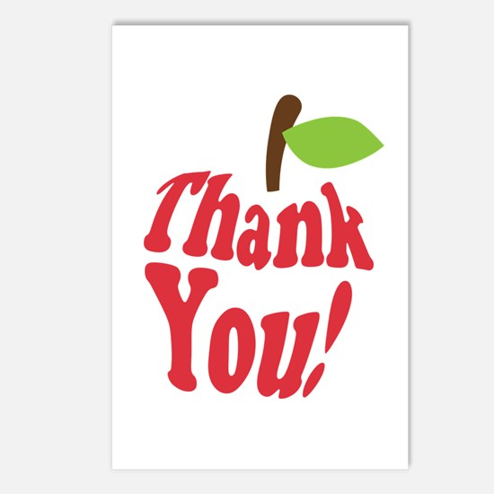 Thank You Red Apple Appreciation Postcards (Packag