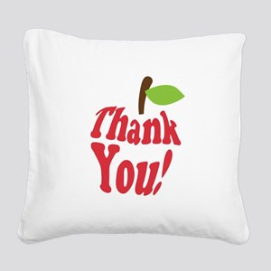 Thank You Red Apple Appreciation Square Canvas Pil