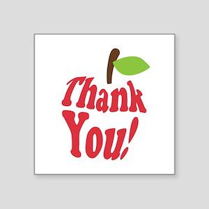 Thank You Red Apple Appreciation Sticker