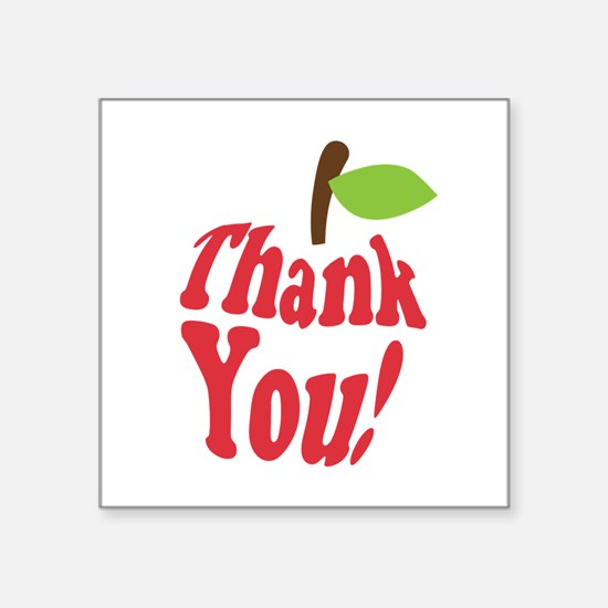 Thank You Red Apple Appreciation Sticker