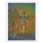 Krishna Swallows the Forest Fire