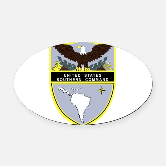 Southern Command Oval Car Magnet
