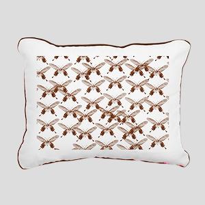 Vintage Butterflies Rectangular Canvas Pillow