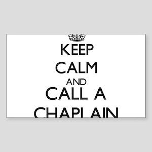 Keep calm and call a Chaplain Sticker