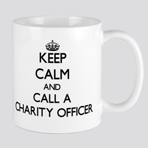 Keep calm and call a Charity Officer Mugs