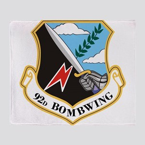 92nd Bomb Wing Throw Blanket